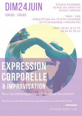 STAGE DE DANSE EXPRESSION CORPORELLE ET IMPROVISATION